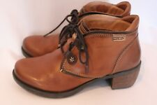 Pikolinos Womens Brown Leather LE MANS Lace Up Ankle Boots Sz 36 / US 5.5 6