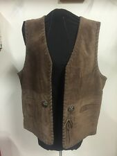 Maggie Lawrence Collection Women's Brown Leather Vest Size Medium M