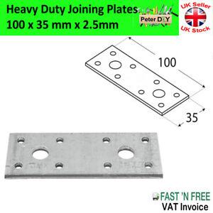 FLAT BRACKET Joining Mending PLATE 2.5mm Steel HEAVY DUTY STRONG PLATE 100x35mm