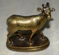 Cow Figurine Brass Victorian Style Cow Statue For Farming Garden Decor Gifts BM1