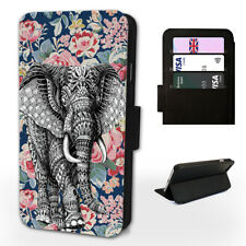 FLORAL ELEPHANT AZTEC - Flip Phone Case Cover - Fits Iphone / Samsung