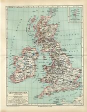 1875 GREAT BRITAIN and IRELAND SHETLAND ISLANDS  Antique Map