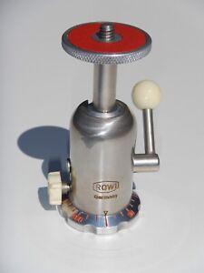 Rare Vintage ROWI 360º Tripod Ball Head w/ Lever Lock Design • Made in Germany