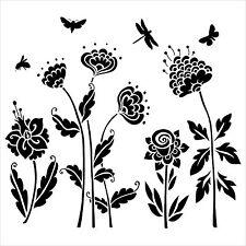 "Pochoir décor ""Mini Flying Garden""- 15X15cm (6""X6"") - TCW"