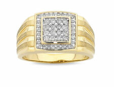 Diamond Yellow Gold Rings for Men
