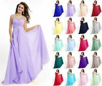 Long Formal Prom Dresses Evening Party Dress Bridesmaid Ball Gown Cocktail 6-22