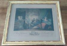 Gravure 1789 encadrée, Ma chemise brule d'Honoré Fragonard gravé par A. Le Grand