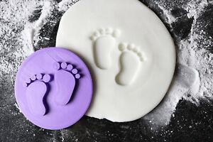 Babies feet cookie embosser stamp, Baby shower cookie embosser, Cupcake stamp