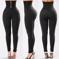 Fashion Women High Waist Yoga Leggings Running Gym Stretch Sports Pants Trousers