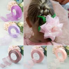 50Yard/Roll Christmas Ribbons Gifts Wrapping Organza Ribbon DIY Snow Yarn Beauty