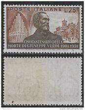 Italia Italy 1951 Verdi L.25 Sa n.678 nuovo integro MNH **