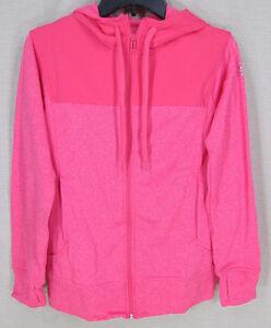 ADIDAS Women's Climawarm Go To Fleece Full Zip Hoodie Jacket Pink Medium NEW NWT