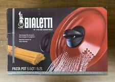 Bialetti Oval 5 Quart Pasta Pot w/ Strainer Lid Nonstick 5.8 Red - Free Shipping