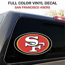 """San Francisco 49ers Window Decal Graphic Sticker Car Truck SUV - 12"""" wide"""