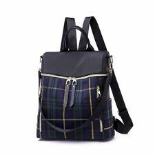 Womens Ladies Check Back Pack Bag School Travel Gym Shoulder Crossbody  Handbag