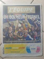 JOURNAL L'ÉQUIPE COUPE DU MONDE 16 juillet 2018  ÉQUIPE DE FRANCE champions