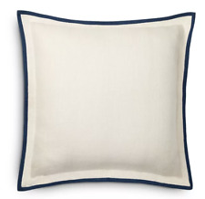 2 Ralph Lauren Rue Vaneau Ardenfied Euro Pillow Sham Linen Cream | NEW $430
