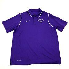 Nike Rincon Uhs Golf Shirt Dry Fit Polo Men's Size Large L Purple Short Sleeve