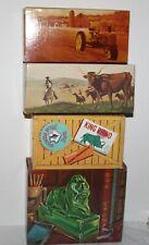 4 Vntg Avon Decanters Classic Lion Longhorn Steer Big Game Rhino The Harvester