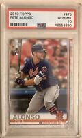 2019 Topps #475 PETE ALONSO Rookie RC PSA 10 New York Mets