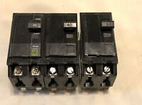 Lot of 20 SQUARE D 15A 20A 25A 30A 40A 50A 2 Pole Circuit Breakers 120V