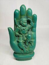 Turquoise Paste China Buddha Mudra Hand Wukong Monkey Statue Figurine