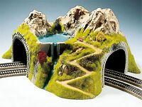 05180 Noch Eck tunnel 2-gleisig, gebogen, 43 x 41 cm , HO, Modell Eisenbahn