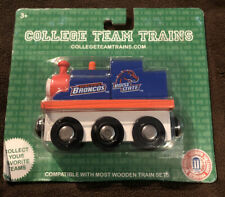NCAA Boise State University Broncos College Team Trains, Wooden Engine, NEW