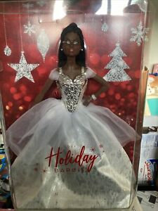Holiday Barbie 2021 Signature African American Silver Gown INHAND Factory Sealed