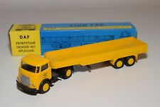 ± LION CAR DAF FRONTSTUUR TRUCK WITH TRAILER DAF EINDHOVEN NEAR MINT BOXED