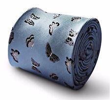 Lumière bébé bleu homme cravate avec argent papillon design FT3345