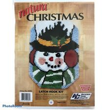 "Vintage Frosty Snowman 18x24"" Christmas Latch Hook hooking Rug Kit New - Sealed"