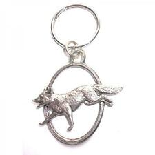 Running Fox PEWTER KEY RING FOB CHAIN BAG CHARM Wildlife Club Present GIFT BOX