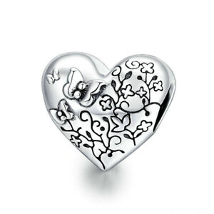 New DIY Silver Cz European Charms Beads Fit Bracelet Necklace Jewelry Making A52