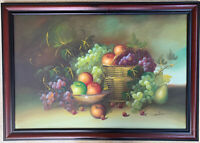 SIMON Still Life Fruit  Original Oil Painting