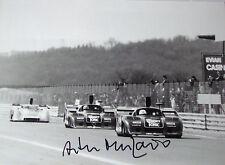 Arturo Merzario firmato 12x8 dppi Press Photo, ALFA ROMEO T33CS, Digione 500km 1977