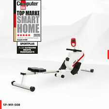 SportPlus Rudergerät Rudermaschine Ruderzugmaschine Klappbar Computer Fitness