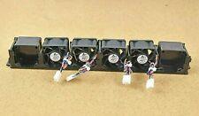 More details for 4 x supermicro server case fans delta ffb0412shn + 2x spacers & plastic surround