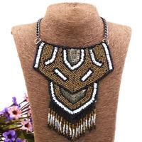 Vintage Ethnic Statement Jewelry Necklace Bohemian Fringe Tribal Collar Necklace