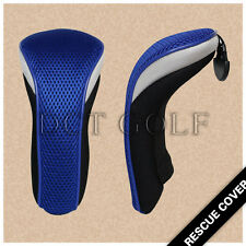 2PCS Mesh UT Rescue Head Covers Headcovers For Taylormade Titleist Blue