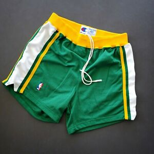 100% Authentic Gary Payton Sonics Champion Game Issued Shorts Size 40 Mens