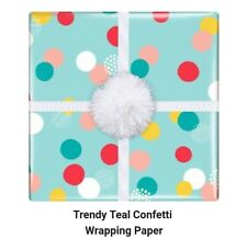 Easter Teal Confetti spot Gift Wrapping Paper 1 sheet 50cm x 70cm  RP012