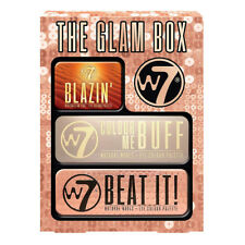 W7 The Glam Box - 3 Pack Eyeshadow Palettes Nudes Shimmer Mattes Christmas