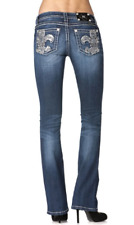 MISS ME JP5934B SZ 29 Fleur De Li Jeans **NEW WITH TAGS**