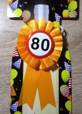 Glückwunsch Rosette  zum 80.Geburtstag  Dekoration / Geschenk zum 80. Geburtstag