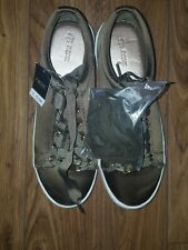 BNWT NEXT Girls Nude Satin Sequinned Tie-Up Ballet-Style Shoes