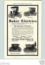 1905 PAPER AD 1906 E R Thomas Car Auto Automobile Baker Electric Depot Wagon ++