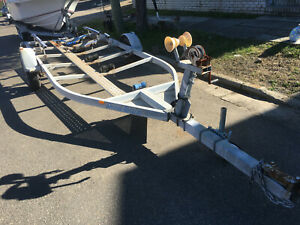 """Boat Trailer 6.0M Special Trailers Single Axle,14"""" Wheels,Winch,Needs Tidy Up"""