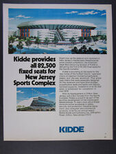 1976 Meadowlands Sports Complex stadium racetrack Kidde Seats vintage print Ad