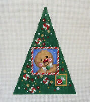Handpainted Needlepoint Canvas Gingerbread Tree Associated Talents DL-751 13ct